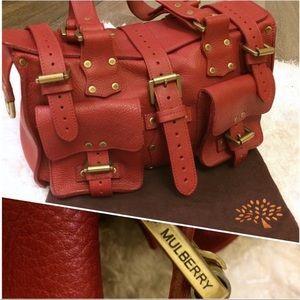Red Genuine Leather Roxanne Roxy Satchel Bag